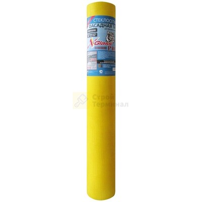 Сетка стеклотканевая для фасадных работ 5мм*5мм  145г / м2 (Желтая)