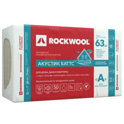 ROCKWOOL Акустик баттс 1000*600*100 (3м2)(0,3м3)