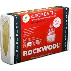 Базальтовая вата Rockwool Флор Баттс 1000х600х50 мм 4 плиты в упаковке