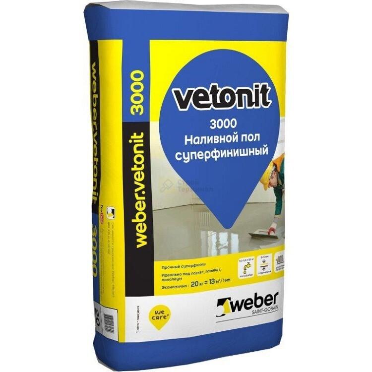 Вебер Ветонит 3000 (20кг) толщ.0-5мм (54шт/под)