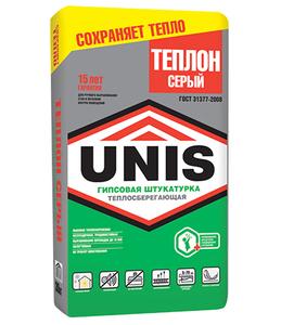 ЮНИС-ТЕПЛОН смесь сухая штукатурная (серый) (30кг) (40шт/под)